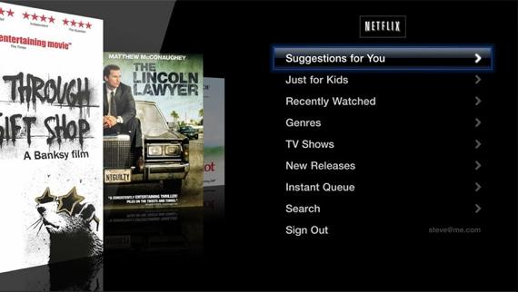 Apple TV Netflix screen