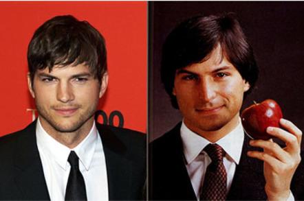Steve Jobs, Ashton Kutcher, credit: David Shankbone, Apple