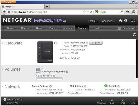 Netgear ReadyNAS Duo V2 dual-bay NAS drive