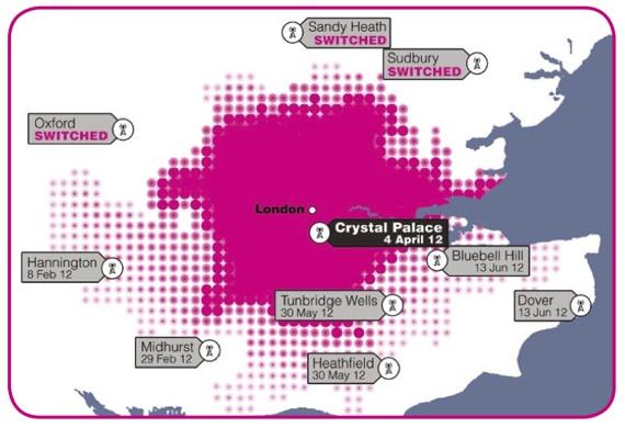 Digital TV in the London region