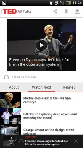 TED Android app screenshot