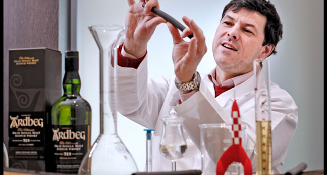 Ardbeg head distiller Dr Bill Lumsden in his lab