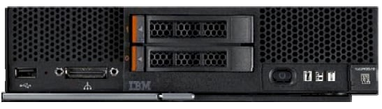 IBM Flex x240 server node, front view