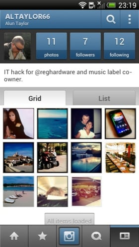 Instagram Android app screenshot