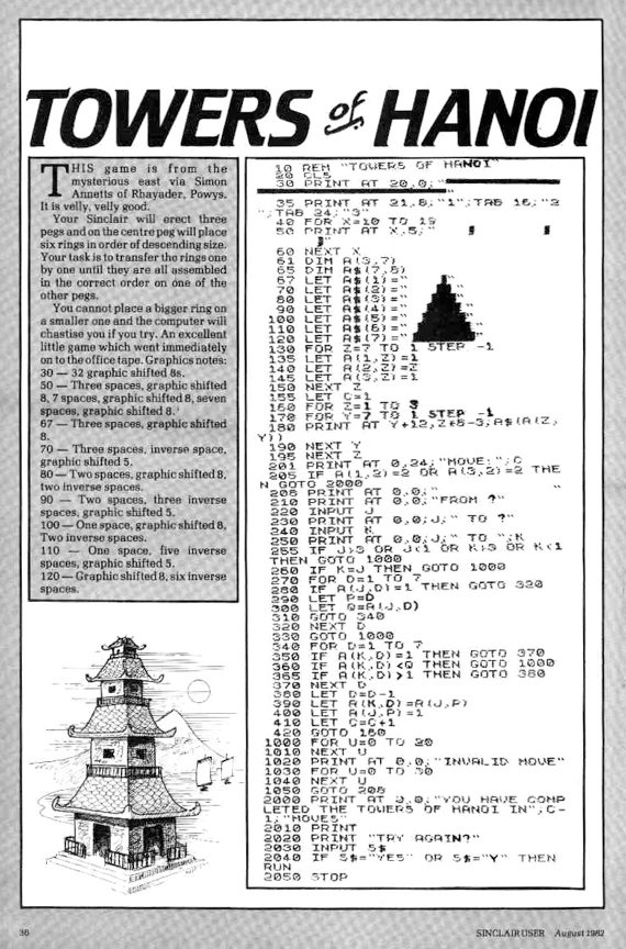 Your Sinclair ZX81 listing