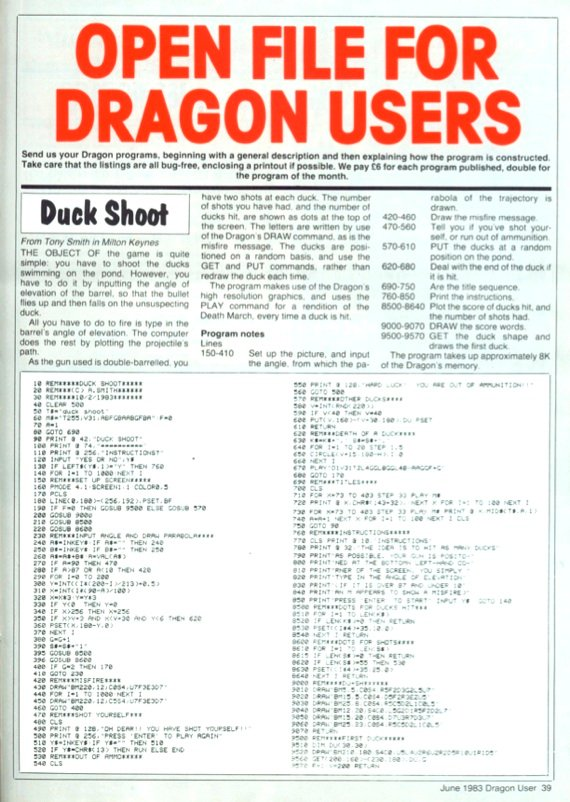 Dragon User listing