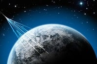 Cosmic rays hitting Earth