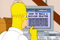 Homer Simpson reading on PC
