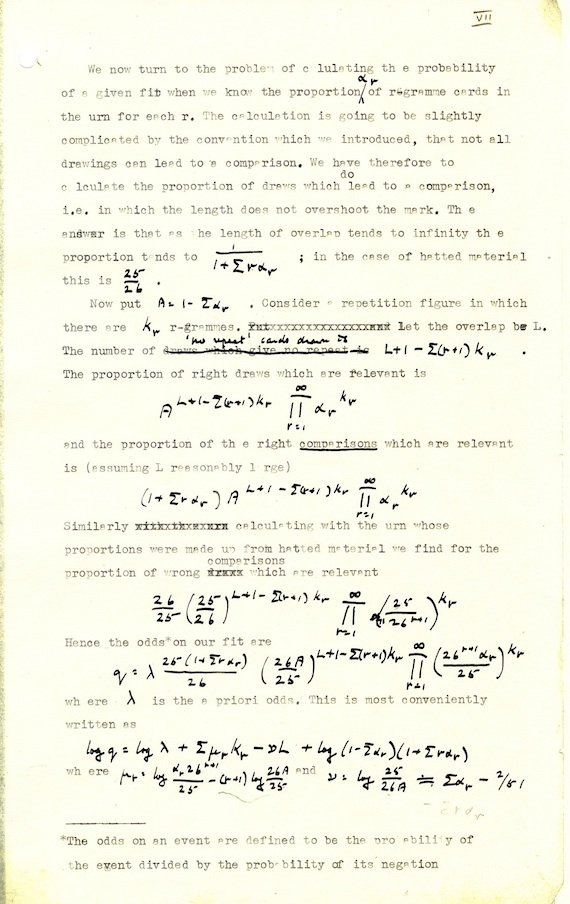 turing s rapid nazi enigma code breaking secret revealed • the  excerpt from turing paper credit national archive scan