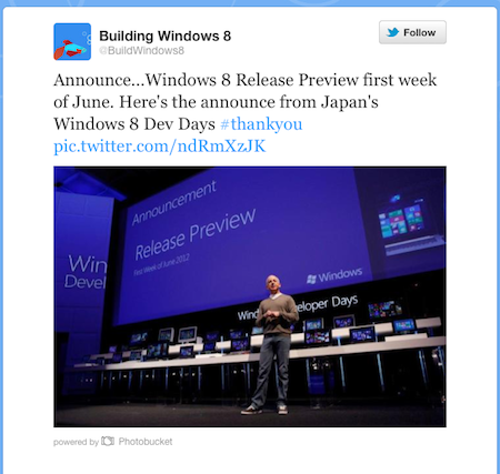Steven Sinofsky announces Win8 release preview