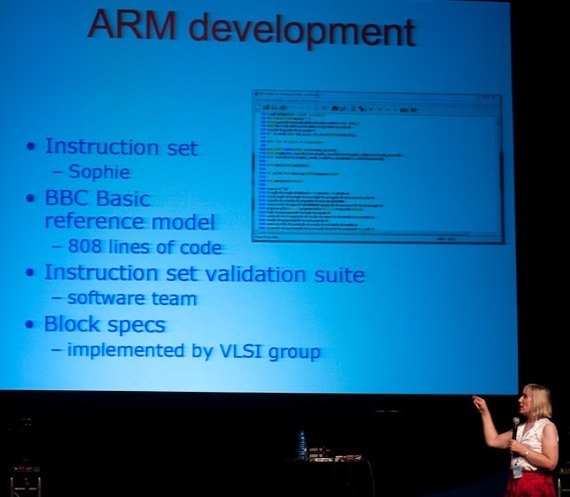 Sophie Wilson talks ARM: Source: Wikimedia