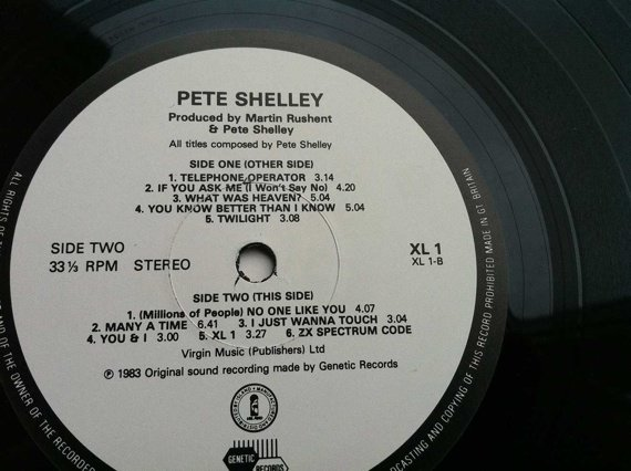 Pete Shelley Spectrum-enabled album