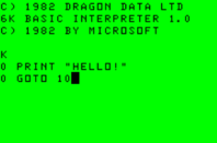 Dragon 32 boot into Basic