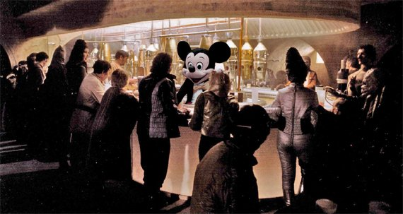 Mos Eisley Cantina with Mickey Mouse