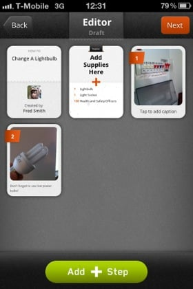 Snapguide iOS app screenshot