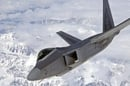 F22 over mountain