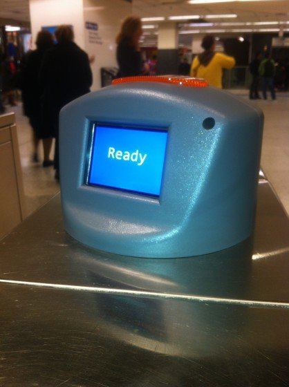 The new display at Sydney train ticket barriers