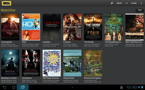 IMDb Android app screenshot