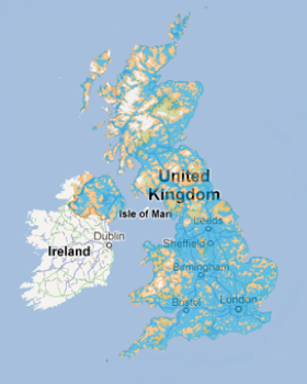 O2 coverage map 2012