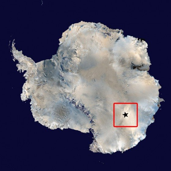 The location of Concordia Station