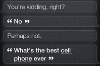 Siri cell phone response