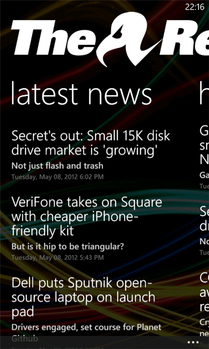 El Reg news rolls on Windows Phone