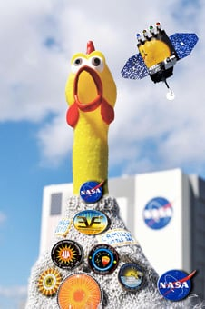 Camilla the space chicken. Pic: NASA