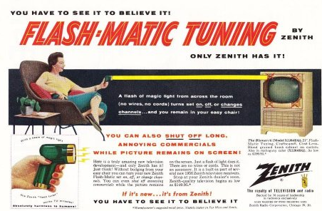 Flash-Matic Advert, credit Honest John's Vintage Goods, Amazon