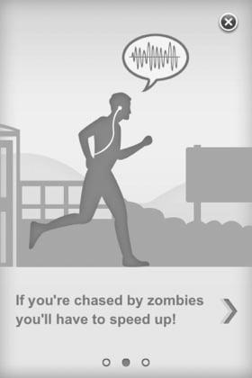 iOS app Zombies Run screenshot