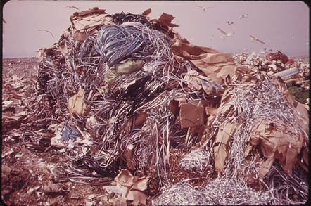 Garbage dump (pic from US National archive)