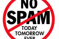 Indonesia's spiffing No Spam logo