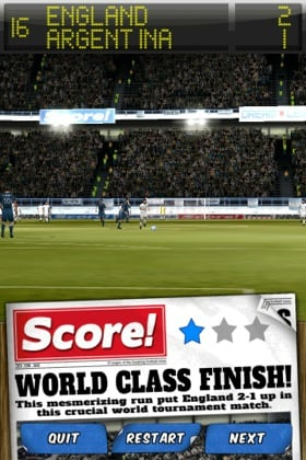 Score! Classic Goals iPhone/iPad game screenshot