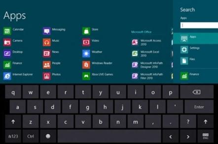Windows 8 Release Preview keyboard