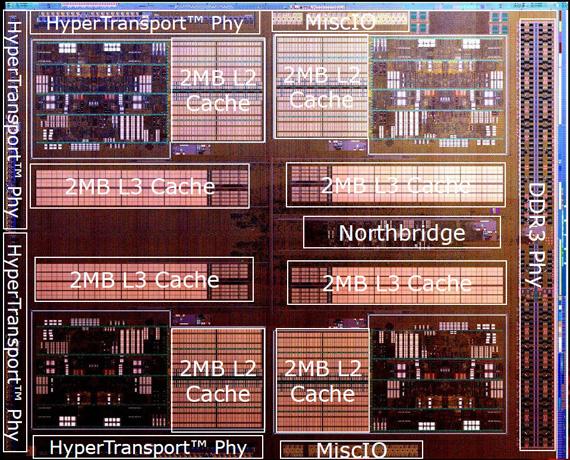 AMD FX-8150 processor die detail
