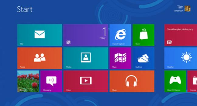 Windows 8 new start screen