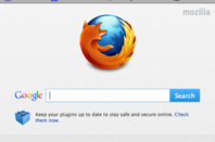 Firefox 13 Home page