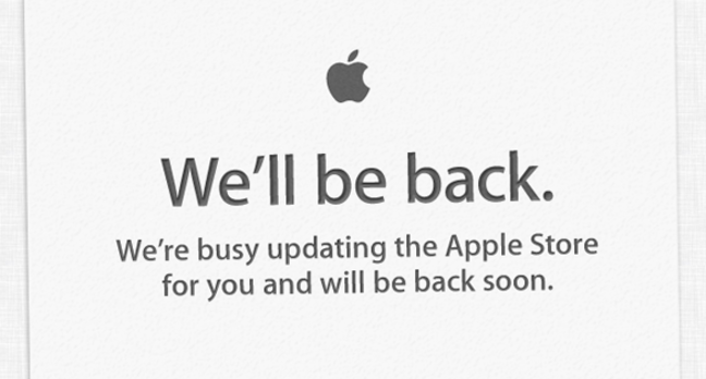 Apple's online store splash page on June 11, 2012