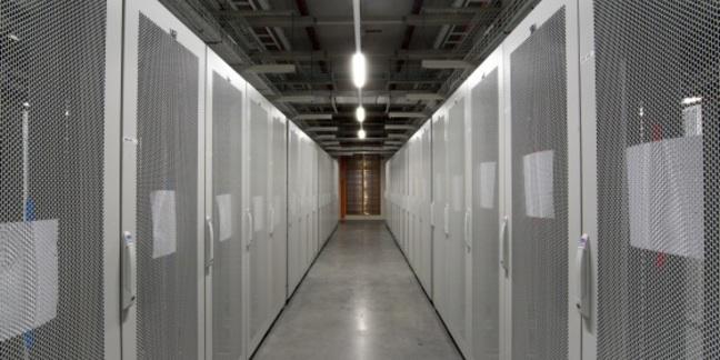 Empty racks awaiting customer kit at HP's Aurora data centre