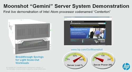 HP's Project Moonshot Gemini enclosure