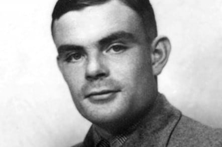 black and white pic of alan turing
