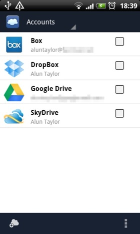 FolderSync Android app screenshot