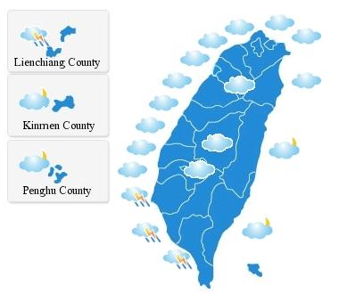 Taiwan CWB map
