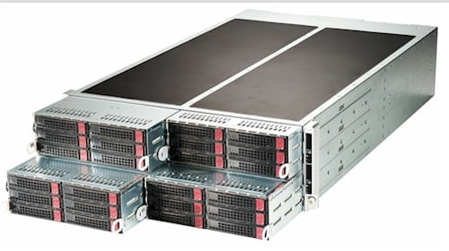Super Micro's 4-node FatTwin server