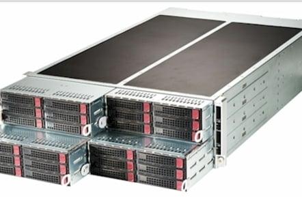 Super Micro's 4-node FatTwin server