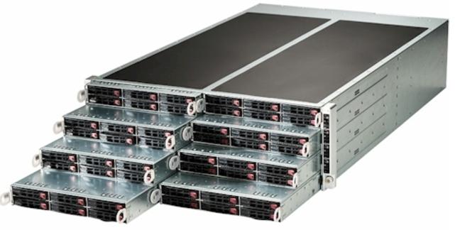 Super Micro's 8-node FatTwin server