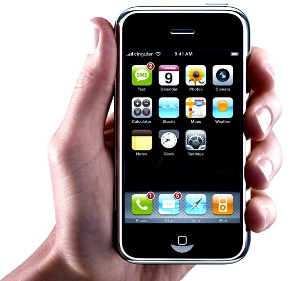The first iPhone, circa 2007