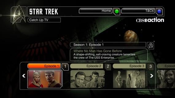Star Trek TiVo app