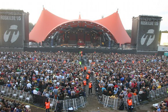 crowds at Roskilde Music Festival Denmark