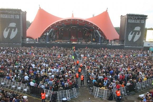 crowds at Roskilde Music Festival Denmark