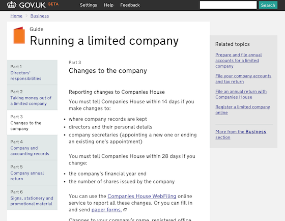 New page of Gov.uk, credit screengrab gov.uk
